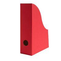 Stehsammler aus Recycling Karton in Rubin Rot für DIN A5 Format – Bild 1