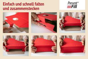 Stehsammler für DIN A4 Format aus Recyclingkarton in Rubin Rot – Bild 4
