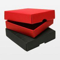 Geschenkschachteln 140 x 140 x 30 mm rot VE 25 Stück – Bild 2
