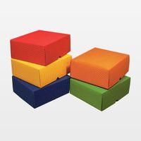 Geschenkschachteln 140 x 140 x 30 mm blau VE 25 Stück – Bild 1