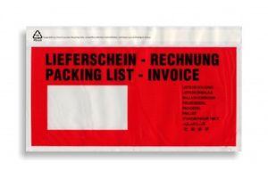 Dokumententaschen DIN lang rot mit Aufdruck VE 1.000 Stück