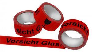 Klebeband Vorsicht Glas 50 mm x 66 m VE 6 Stück