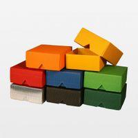 Geschenkschachtel klein in verschiedenen Farben 25 Stück 80x80x37 mm