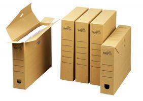 Archivboxen 316 x 64 x 238mm braun DIN A4, Vollpappe VE 25 Stück