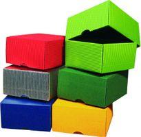 Geschenkschachteln mit Deckel verschiedene Farben 95x95x50mm 25 Stück