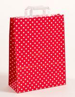 Papiertragetaschen Punkte Rot 32 x 12 x 40 cm VE 250 Stück – Bild 1
