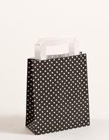 Papiertragetasche Punkte Schwarz 18 x 8 x 22 cm VE 250 Stück – Bild 1