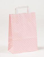 Papiertragetaschen Punkte Rosa 22 x 10 x 31 cm VE 250 Stück – Bild 1