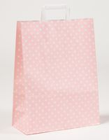 Papiertragetaschen Punkte Rosa 32 x 12 x 40 cm VE 250 Stück – Bild 1