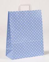 Papiertragetaschen Punkte Hellblau 32 x 12 x 40 cm VE 250 Stück – Bild 1