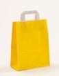 Papiertragetaschen Gelb 22 +10 x 28 cm VE 250 Stück