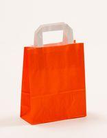 Papier Tragetaschen Orange 18 +8 x 22 cm VE 250 Stück – Bild 1