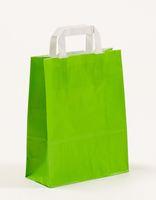 Papiertragetaschen Grün 22 +10 x 28 cm VE 250 Stück – Bild 1