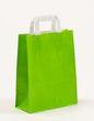 Papiertragetaschen Grün 22 +10 x 28 cm VE 250 Stück