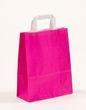 Papiertragetaschen Pink 22 +10 x 28 cm VE 250 Stück