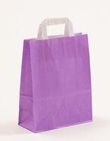 Papiertragetaschen Violett 22 +10 x 28 cm VE 250 Stück – Bild 1