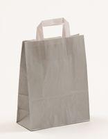Papiertragetaschen Grau 22 +10 x 28 cm VE 250 Stück – Bild 1