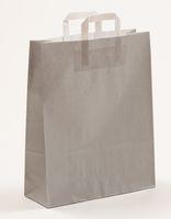 Papiertragetaschen Grau 32 +12 x 40 cm VE 250 Stück – Bild 1
