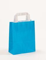 Papiertragetaschen Blau 18 +8 x 22 cm VE 250 Stück – Bild 1