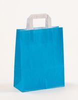 Papiertragetaschen Blau 22 +10 x 28 cm VE 250 Stück – Bild 1