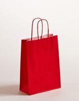 Geschenktaschen Papiertragetüten Rot 18 x 8 x 25 cm VE 300 Stück