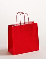 Geschenktasche Papiertragetaschen Rot 25x11x24cm VE 250 Stück – Bild 1