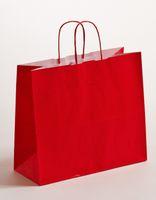 Geschenktaschen Papier Tragetaschen Rot 32x13x28cm VE 250 Stück – Bild 1