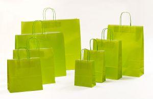 Geschenktaschen Papiertragetasche Hellgrün 18 x 8 x 25 cm VE 300 Stck – Bild 2