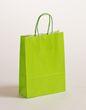 Geschenktaschen Papiertragetasche Apfelgrün 18 x 8 x 25 cm VE 300 Stck