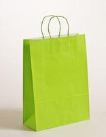 Papier Tragetaschen Apfelgrün Hochformat 32x13x42,5cm VE 250 Stück – Bild 1