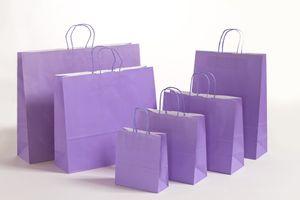 Geschenktaschen Papiertragetüten Violett 18x8x25cm VE 300 Stück – Bild 2