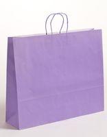 XXL große Papiertragetaschen Violett 54x14x45cm VE 125 Stück – Bild 1