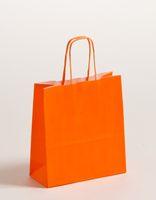 Geschenktaschen Papiertragetüten Orange 18x8x25cm VE 300 Stück – Bild 1
