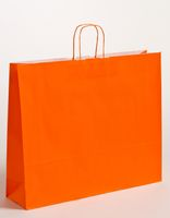 XXL große Papiertragetaschen Orange 54x14x45cm VE 125 Stück – Bild 1