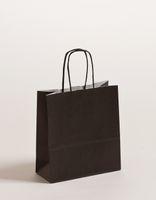 Geschenktaschen Papiertragetüten Schwarz 18x8x25cm VE 300 Stück – Bild 1
