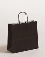 Geschenktasche Papiertragetaschen Schwarz 25x11x24cm VE 250 Stück – Bild 1