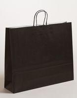 XXL große Papiertragetaschen Schwarz 54x14x45cm VE 125 Stück – Bild 1