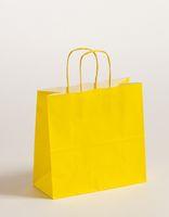 Geschenktasche Papiertragetaschen Gelb 25x11x24cm VE 250 Stück – Bild 1