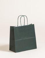 Geschenktasche Papiertragetaschen Dunkelgrün 25x11x24cm VE 250 Stück – Bild 1