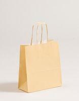 Geschenktaschen Papiertragetüten Creme 18x8x25cm VE 300 Stück – Bild 1