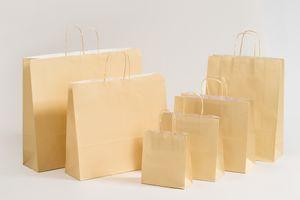 Geschenktaschen Papiertragetüten Creme 18x8x25cm VE 300 Stück – Bild 2