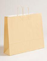 XXL große Papiertragetaschen Creme 54x14x45cm VE 125 Stück – Bild 1
