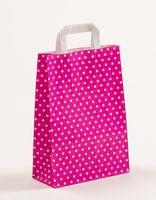 Papiertragetaschen Punkte Pink 22 x 10 x 31 cm VE 250 Stück – Bild 1