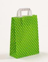 Papiertragetaschen Punkte Grün 22 x 10 x 31 cm VE 250 Stück – Bild 1