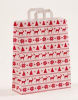 Geschenktragetüten Weihnachten Norweger Weiß 32 +12 x 40 cm VE 250 St. – Bild 1