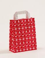 Geschenktüten Weihnachten Norweger Rot 18 +8 x 22 cm VE 250 Stück – Bild 1