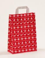 Papiertragetaschen Weihnachten Norweger Rot 22 +10 x 31 cm VE 250 St. – Bild 1