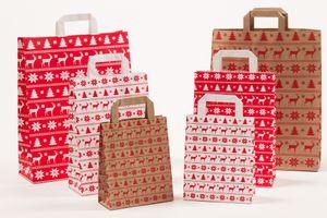 Papiertragetaschen Weihnachten Norweger Rot 22 +10 x 31 cm VE 250 St. – Bild 2
