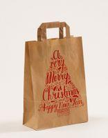 Geschenk Papiertragetaschen Merry Christmas 22+10x31 cm VE 250 Stück – Bild 1