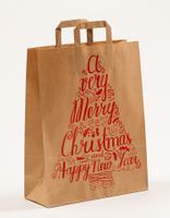 Papier Tragetüte Weihnachten Merry Christmas 32+12 x 40cm VE 250 Stück – Bild 3